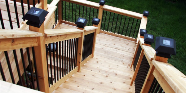 Complete custom cedar deck brampton