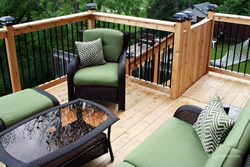 custom cedar deck brampton cover