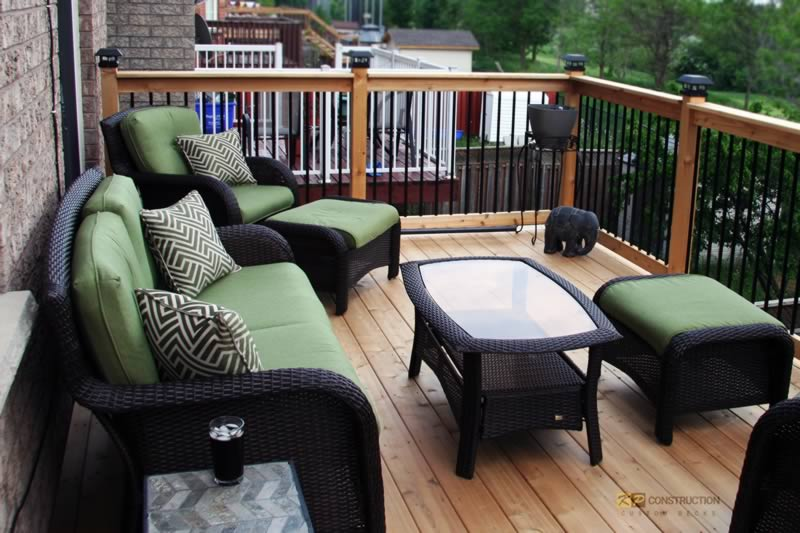 custom cedar deck toronto project