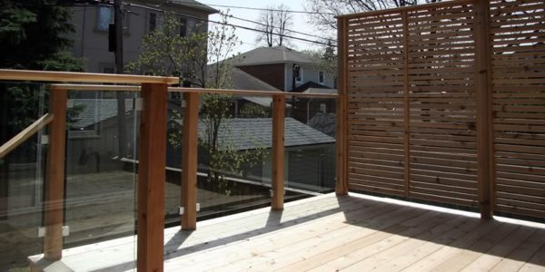 top view of railings and deck toronto project