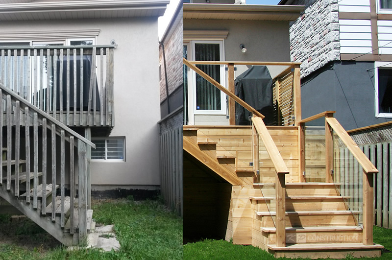 toronto deck before and after