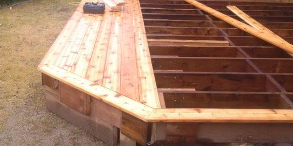 building cedar deck top view