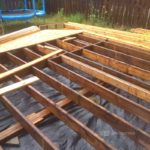 cedar deck building process