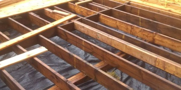 cedar deck building process