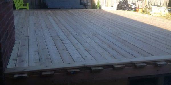 final touch ups building deck