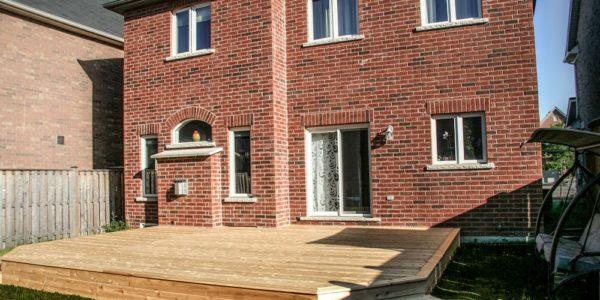 custom cedar deck side view