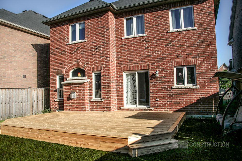 custom cedar deck vaughan