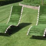 green deck chairs