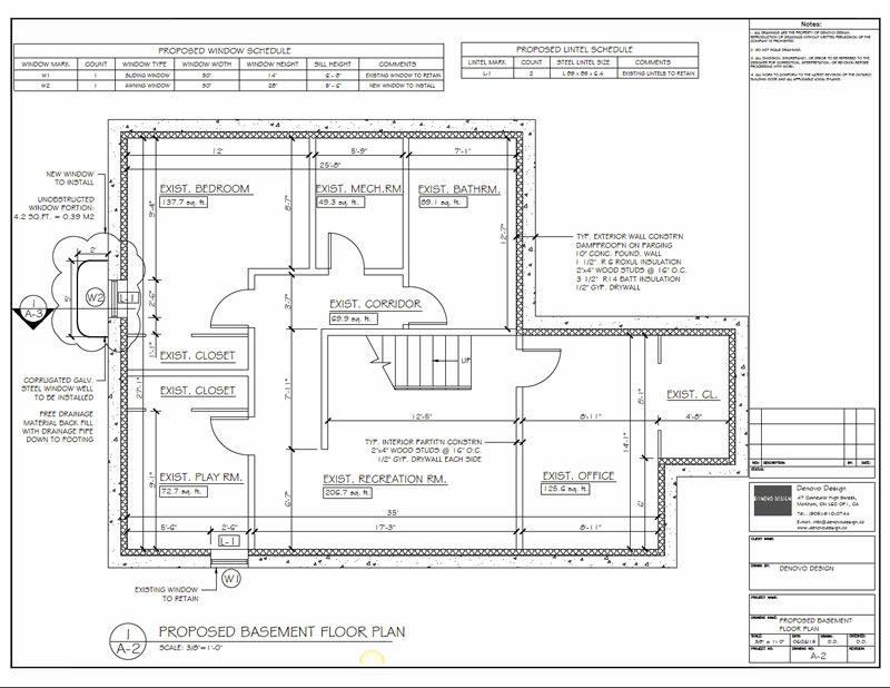 basement plan layout blueprint