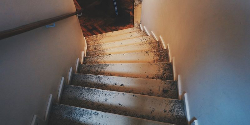 basement renovation old stairs