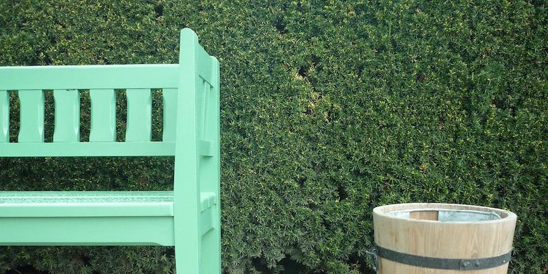 decorative bench bucket