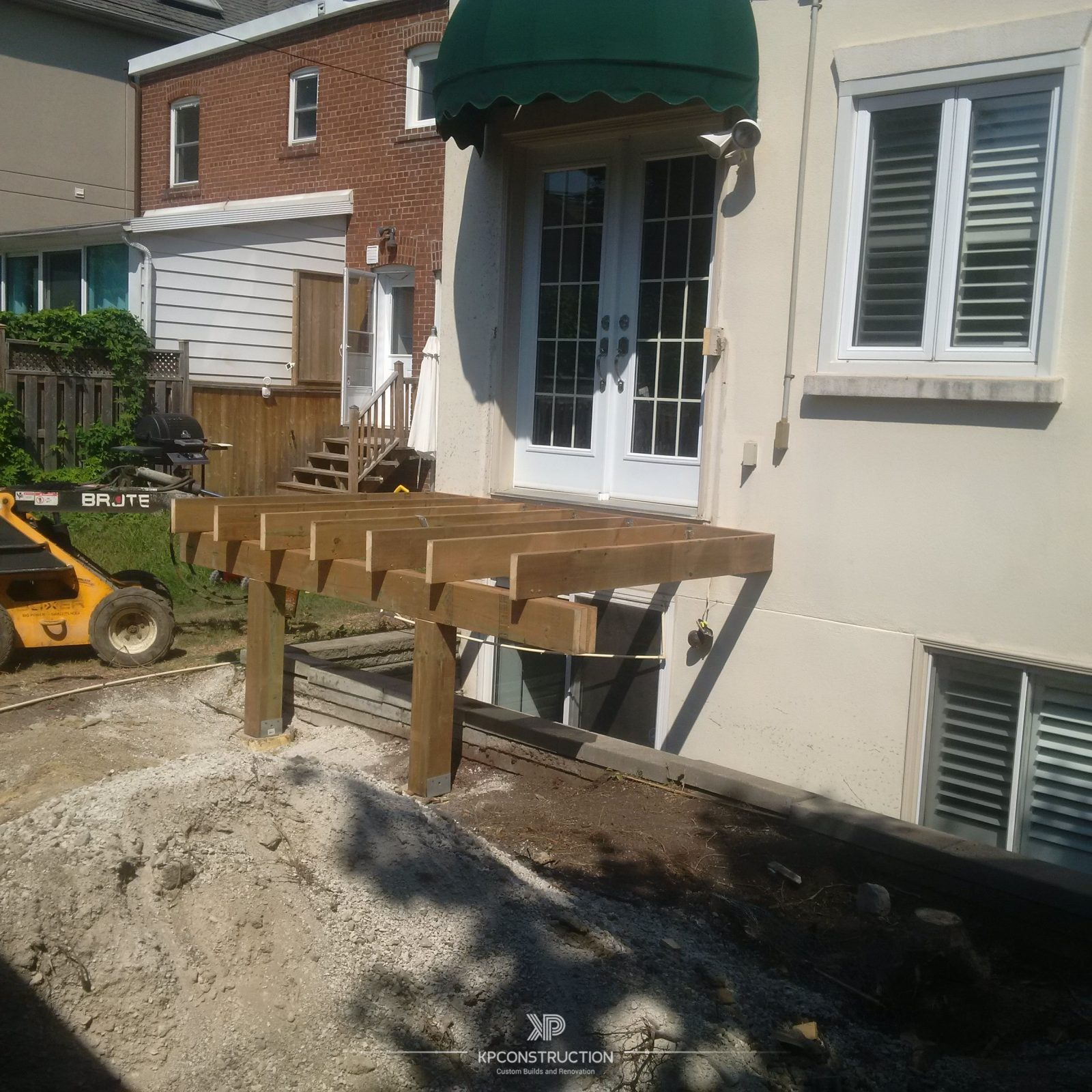 back yard deck project