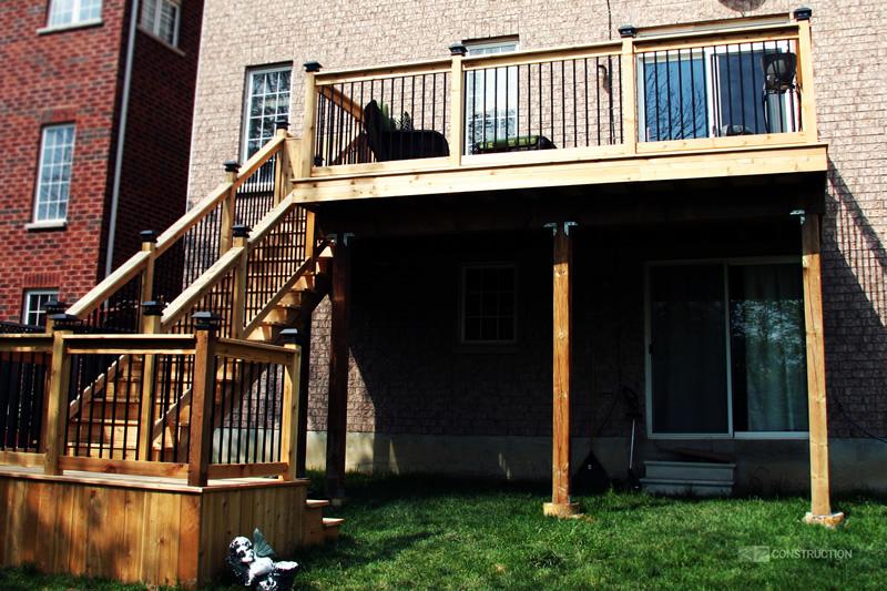 custom cedar deck brampton project