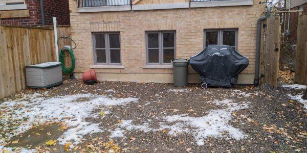 clean backyard before building a deck